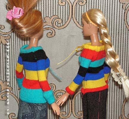 Как сделать наряд кукле которая из носка