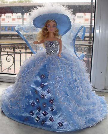 Платье для куклы своими руками пышное платье 93